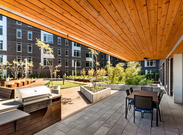RiverWest Apartments Vancouver, Washington BBQ Area and Patio