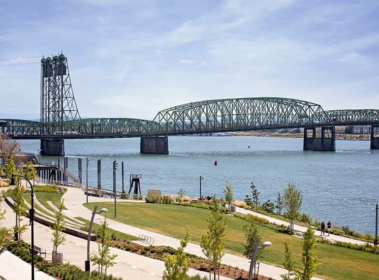 RiverWest Apartments Vancouver, Washington Riverfront and Bridge