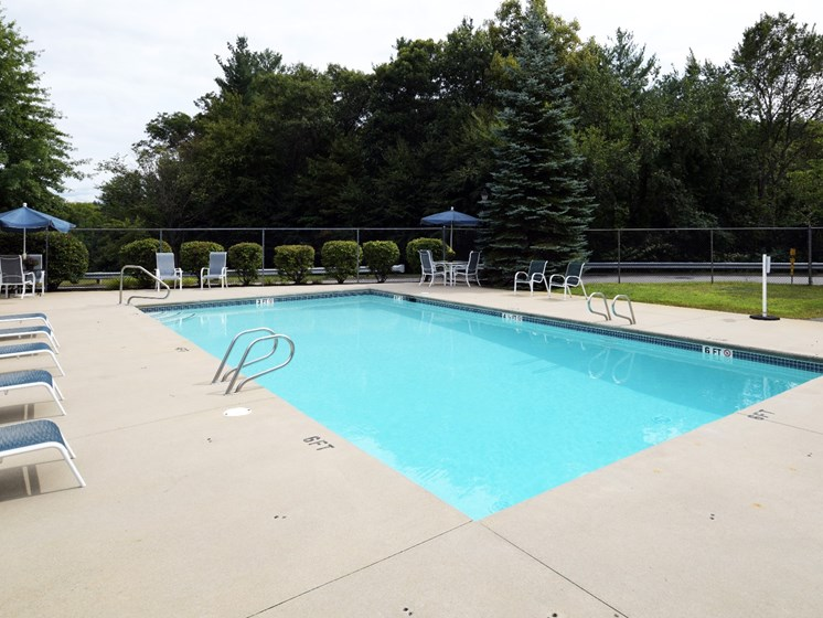 Pool Side Relaxing Area at Windsor Terrace, Hooksett, NH
