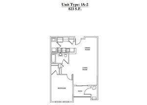 1 Bed 1 Bath 1A-2 Call for Pricing