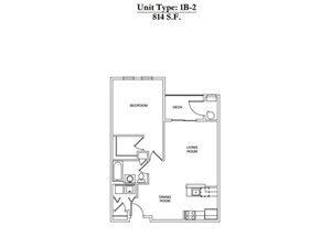1 Bed 1 Bath 1B-2 Call for Pricing