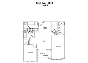 2 Bed 2 Bath 2B-2 Call for Pricing