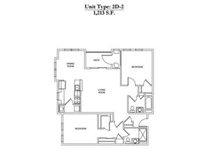 2 Bed 2 Bath 2D-2 Call for Pricing