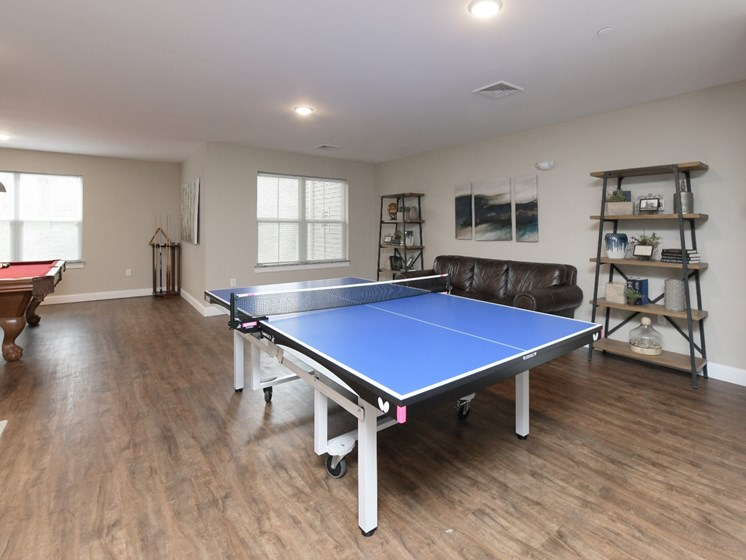 Game Room with Billiards and Ping Pong Table at Webster Village, Hanover, MA