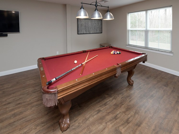 Billiards Table Inside Clubhouse at Webster Village, Hanover, 02339