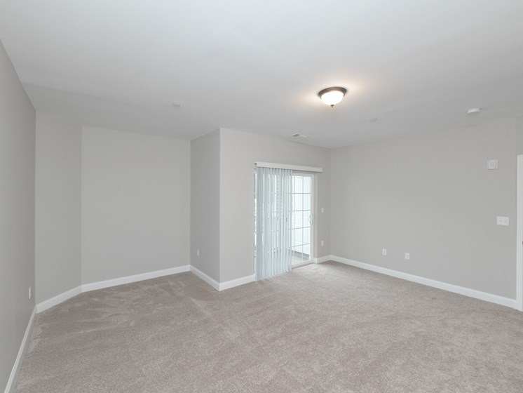 Spacious Bedrooms with carpeting and ceiling light at Webster Village, Massachusetts, 02339