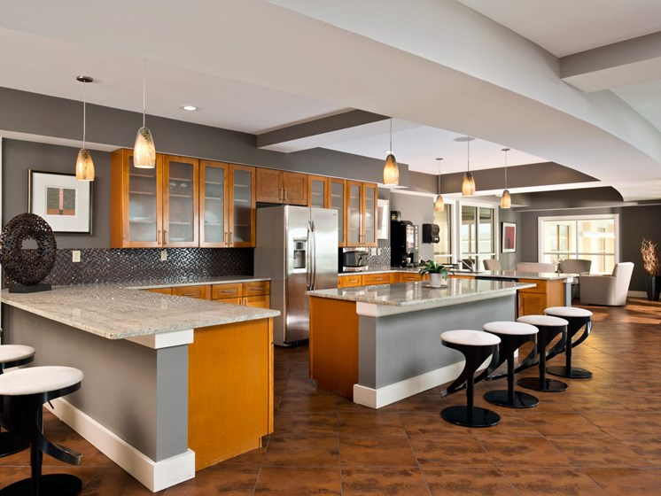 Clubhouse Fully-Equipped Kitchen with Breakfast Bars at Alexander at Patroon Creek, Albany, NY, 12206