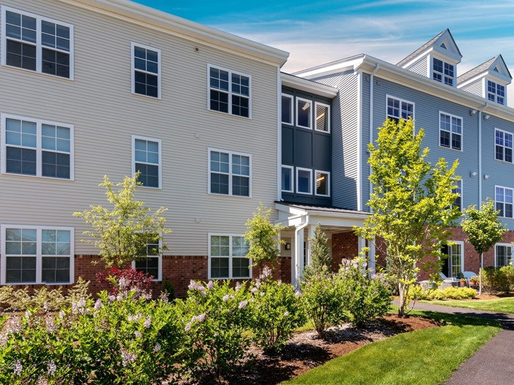 Landscaped Path to Apartments at East Main, Norton, Massachusetts, 02766