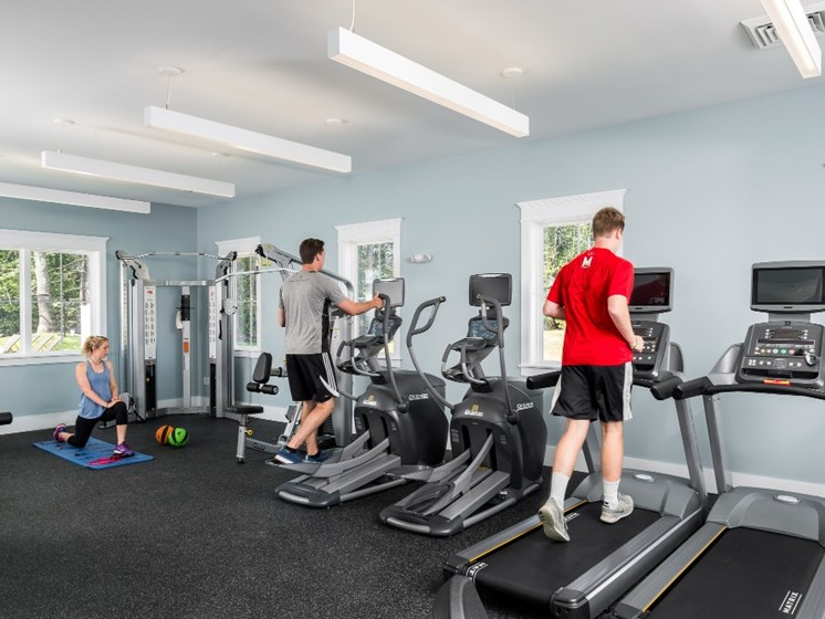 Cardio Equipment in Fitness Center at East Main Apartments, Norton, 02766