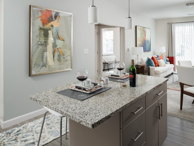 Open Floor Plan Layouts of Living and Dining Areas at East Main Apartments, Norton, MA