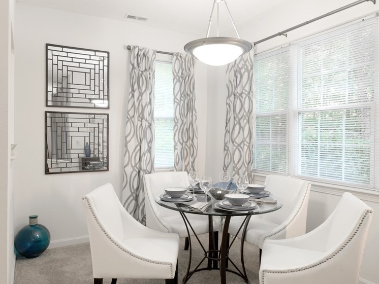Dining Room with Carpeting and Ceiling Light  at Cumberland Crossing, Cumberland, RI, 02864
