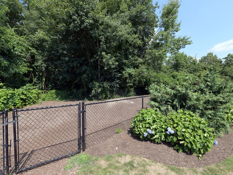Newly Renovated Dog Park with Gated Entry at Cumberland Crossing, Cumberland, RI
