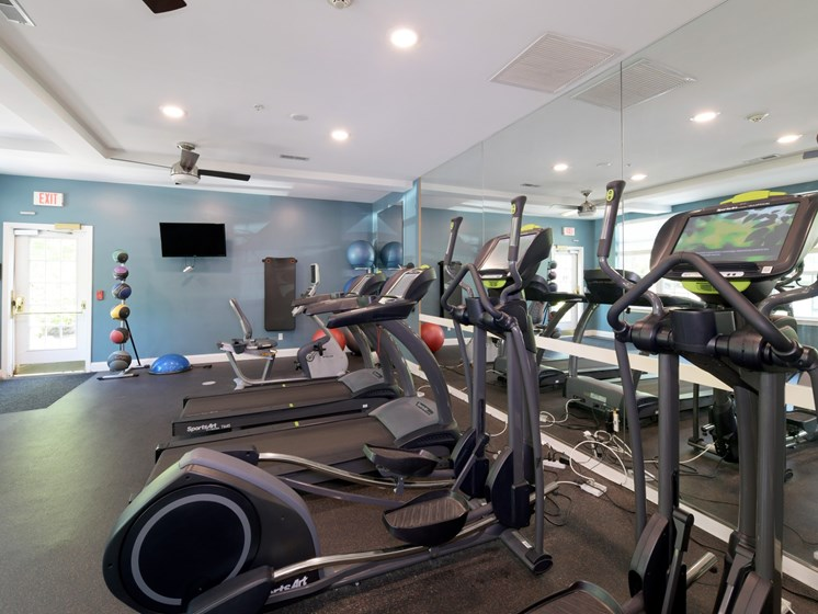 Cardio Machines In Fitness Center at Cumberland Crossing, Cumberland, Rhode Island
