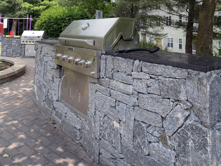 Grilling Areas at Cumberland Crossing, Rhode Island, 02864