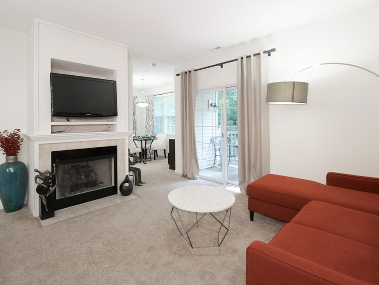 Plush Carpeting Throughout Living and Dining Areas at Cumberland Crossing, Cumberland, Rhode Island