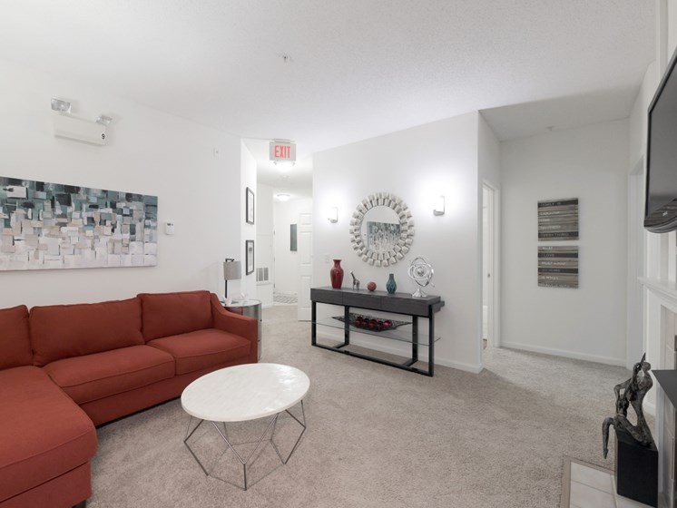 Cozy Living Room with Carpeting at Cumberland Crossing, Rhode Island, 02864