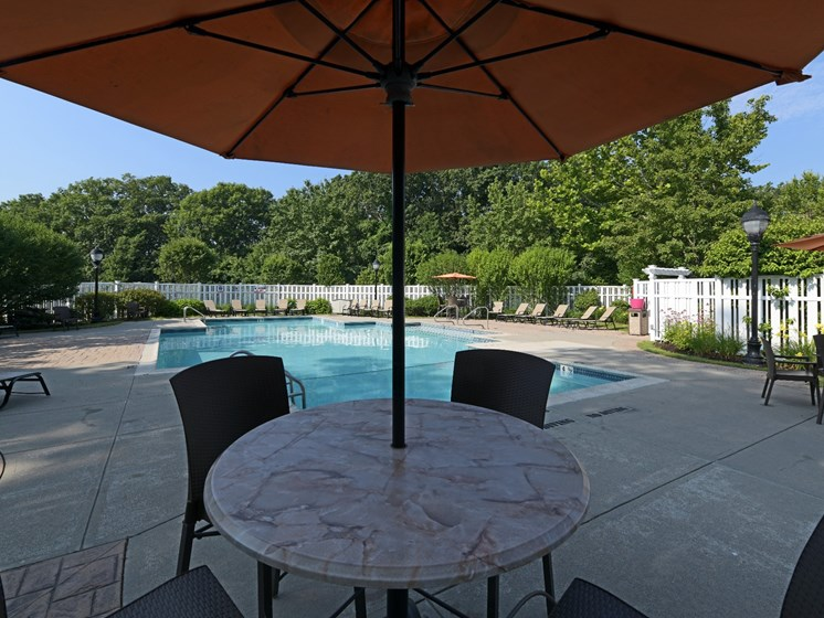 Poolside Lounge Area at Cumberland Crossing, Rhode Island