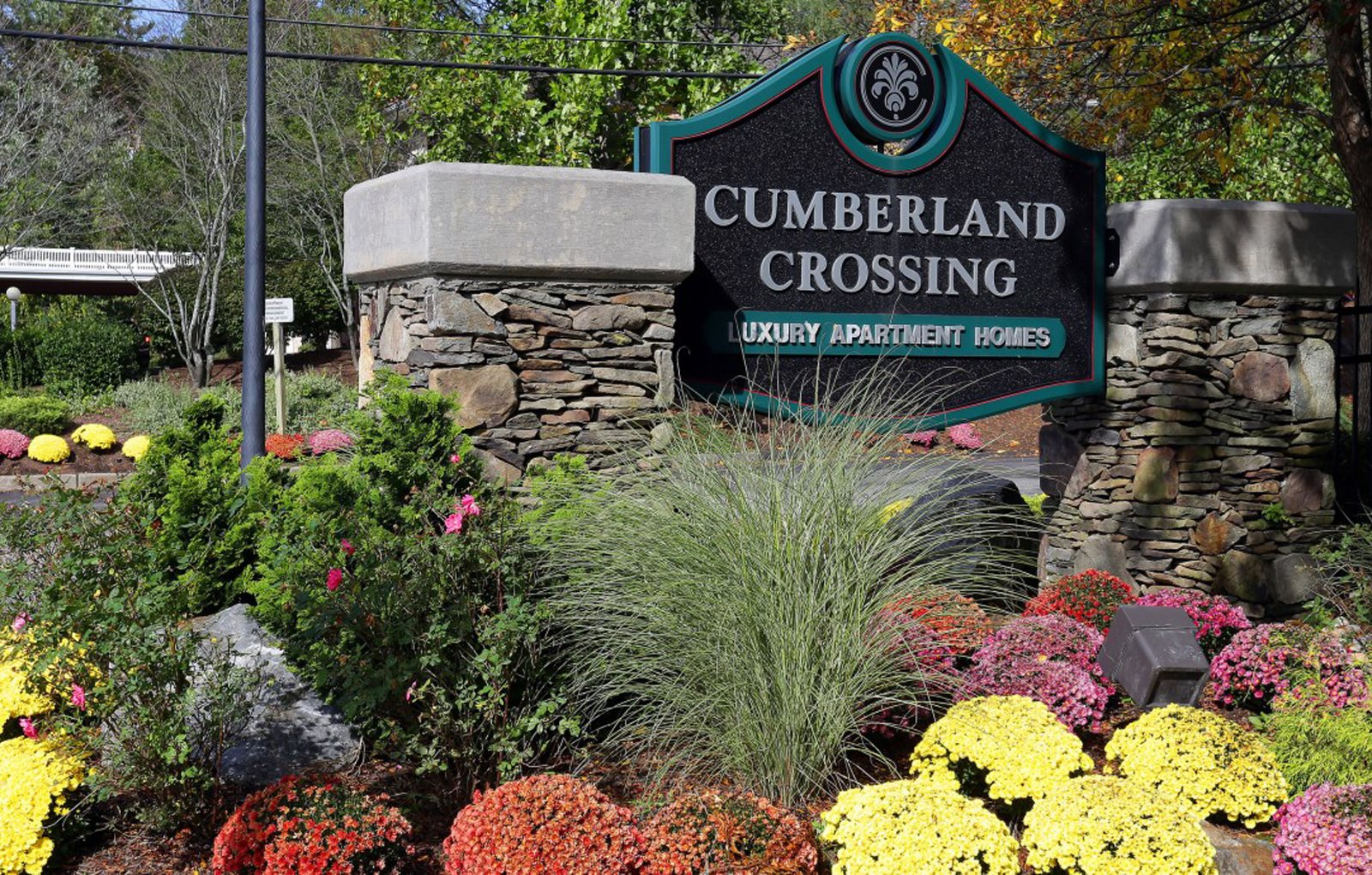Sign and Gated Entrance to Cumberland Crossing, Cumberland, RI