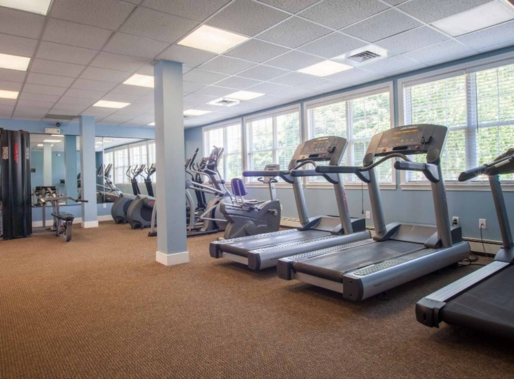 Cardio Machines in Fitness Center at Redbank Village, South Portland, ME