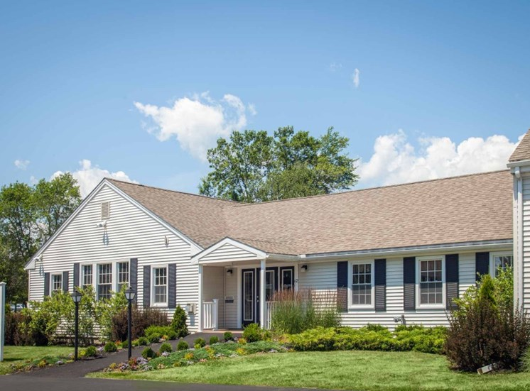 Leasing office building on-site at Redbank Village, South Portland, 04106