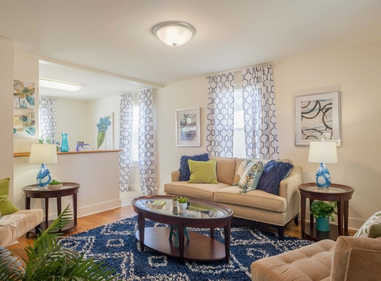 Living Room Area with Wood Flooring and Ceiling Light with Breakfast Bar at Redbank Village, Maine