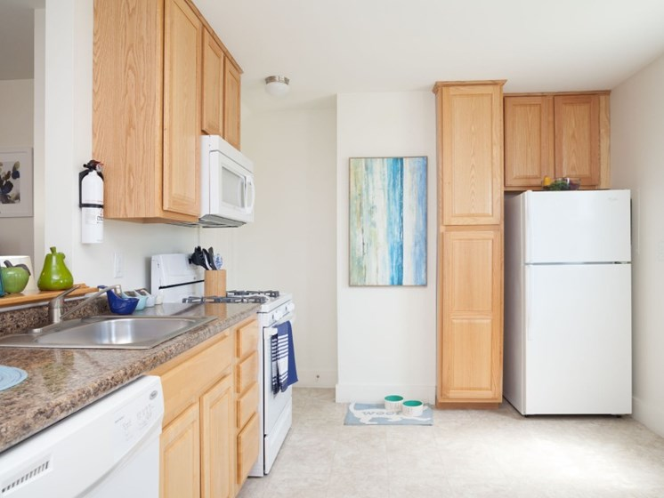 Fully Equipped Kitchen at Redbank Village, South Portland, ME