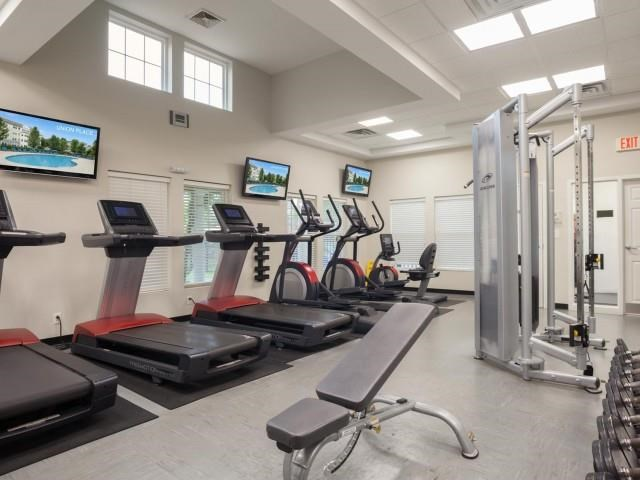 Fully Equipped Fitness Center at Union Place, Franklin