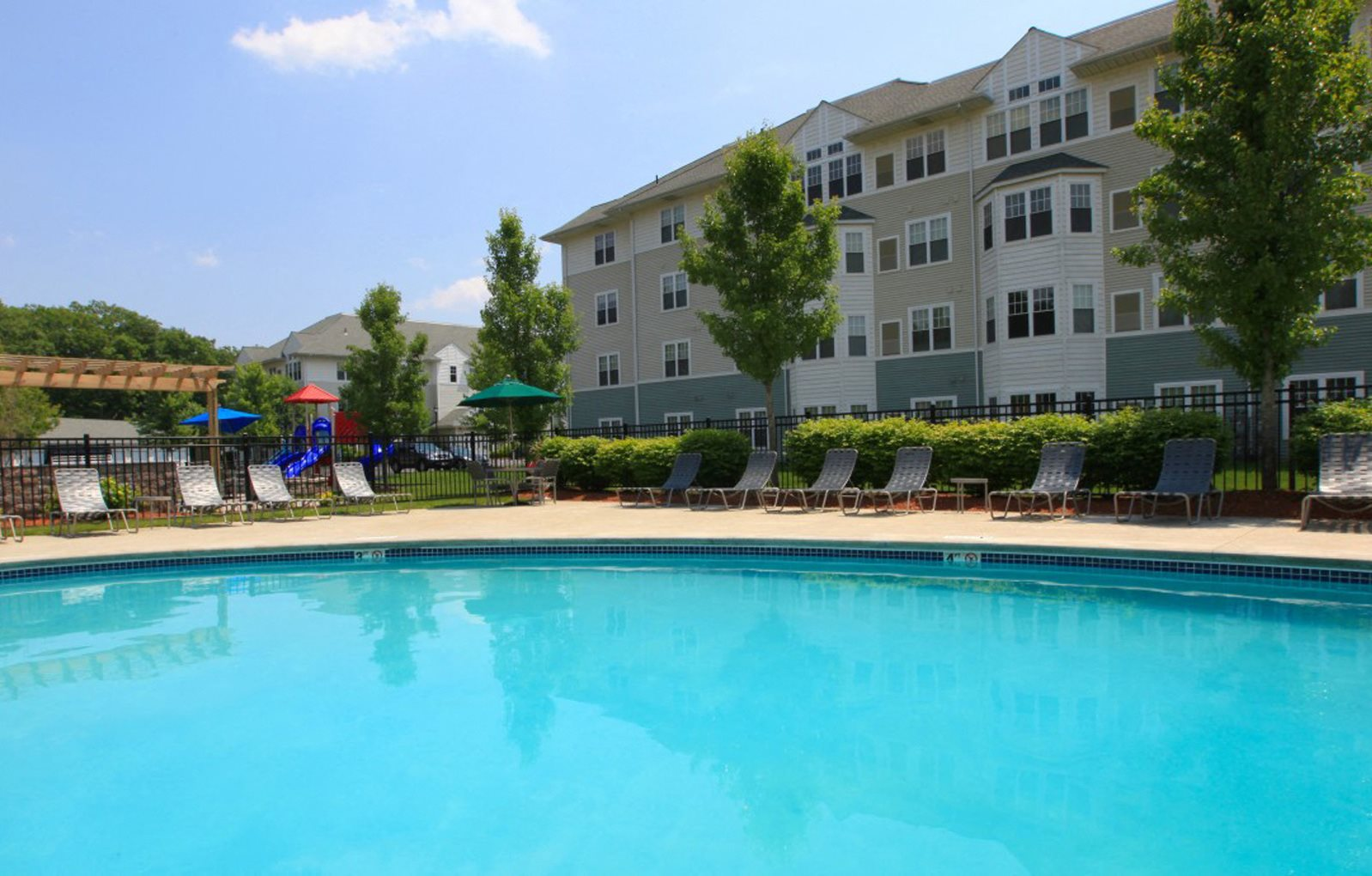 Resort Inspired Heated Swimming Pool at Union Place, Franklin, Massachusetts