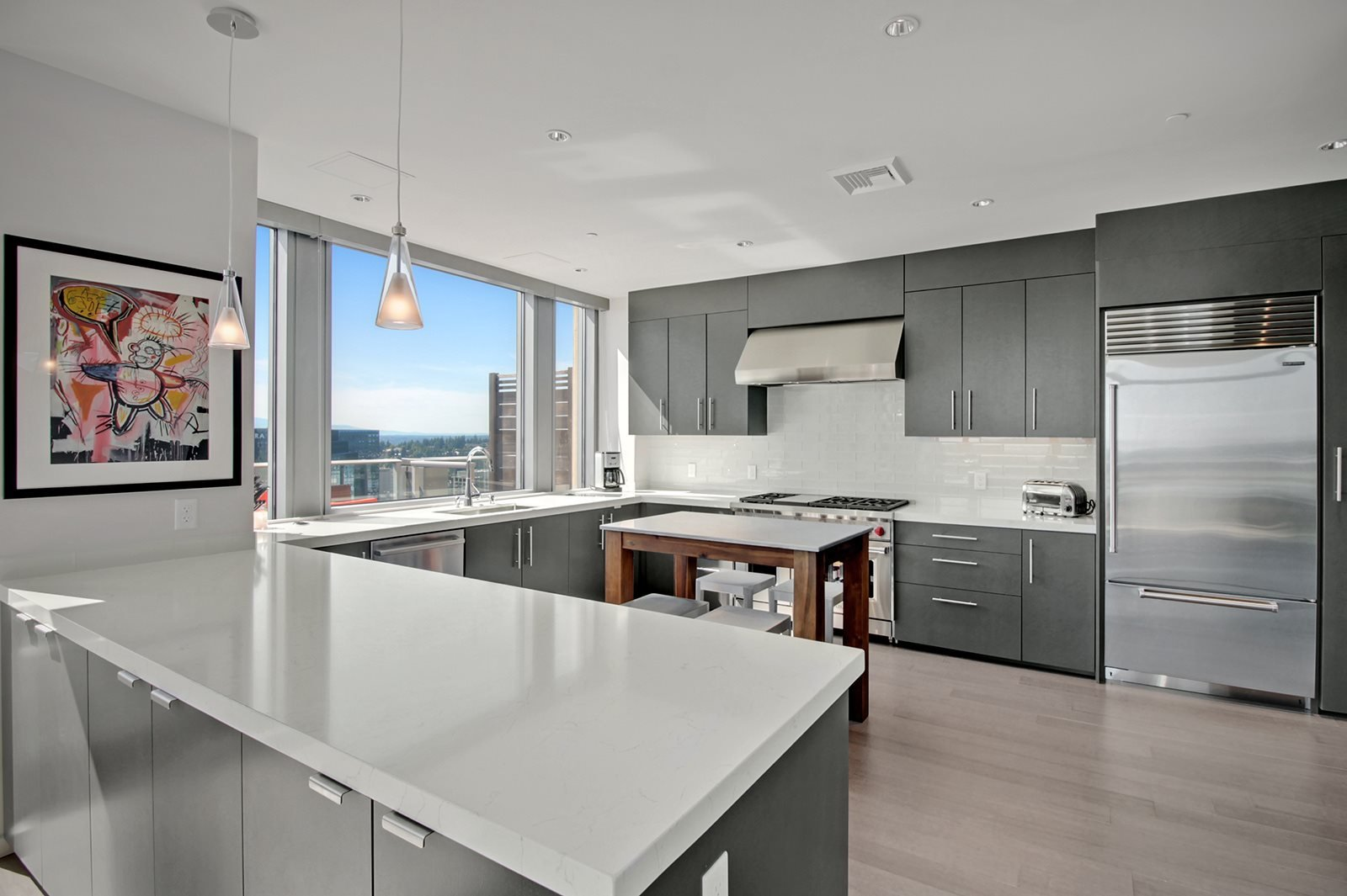 Luxurious Kitchen at The Bravern in Bellevue, WA