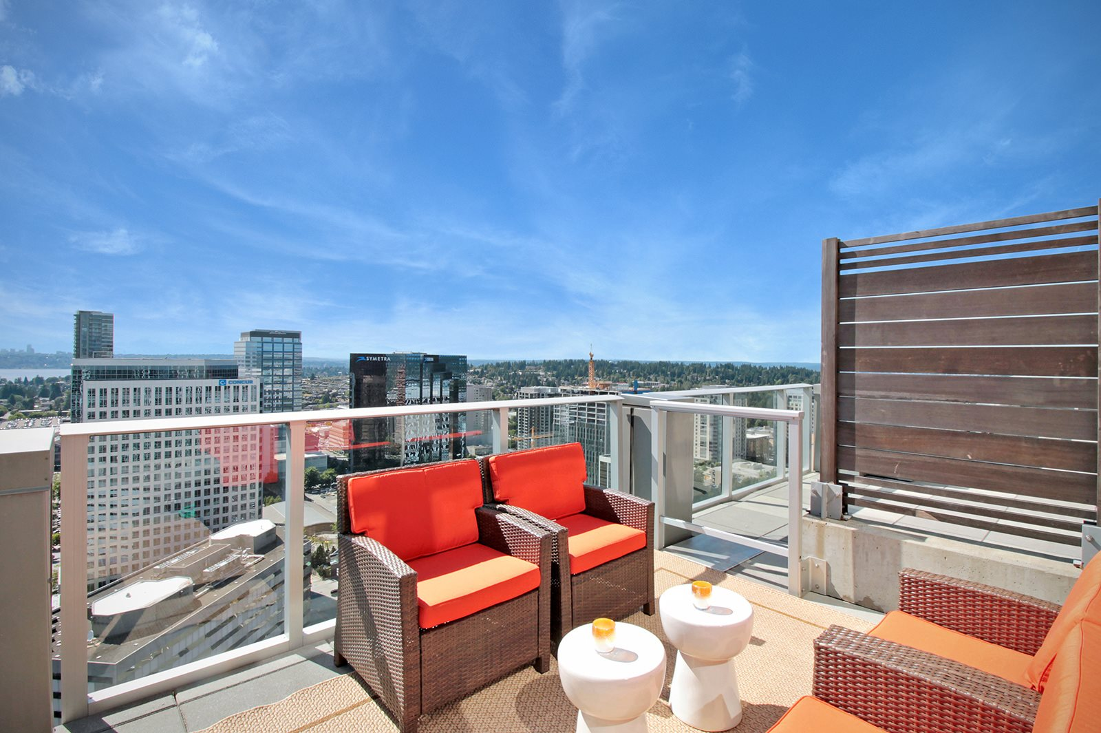 Private Balcony at at The Bravern in Bellevue, WA