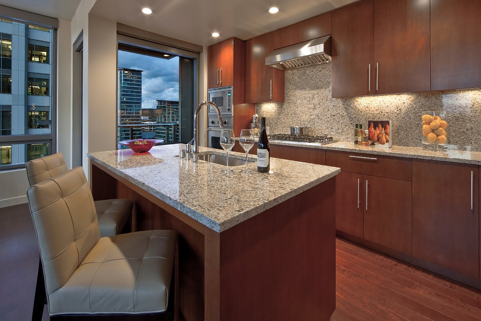 Granite Countertops at The Bravern in Bellevue, WA