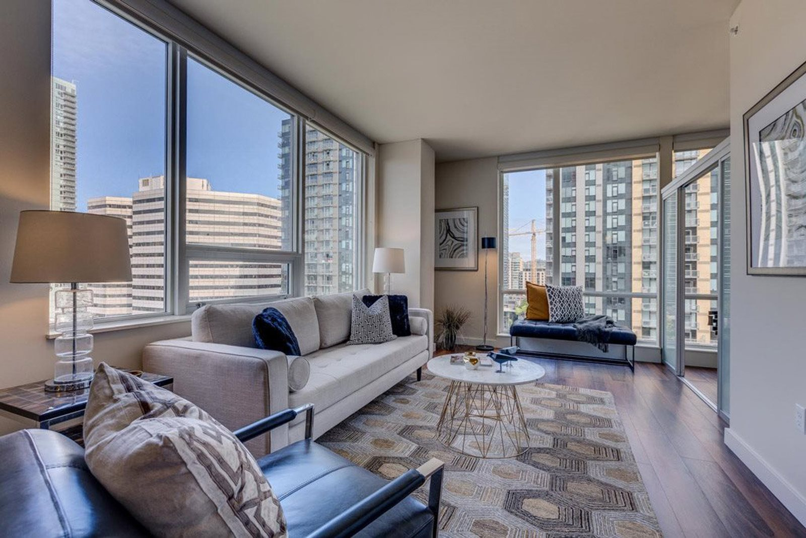 Open Concept Floor plan at The Martin, Seattle, WA, 98121