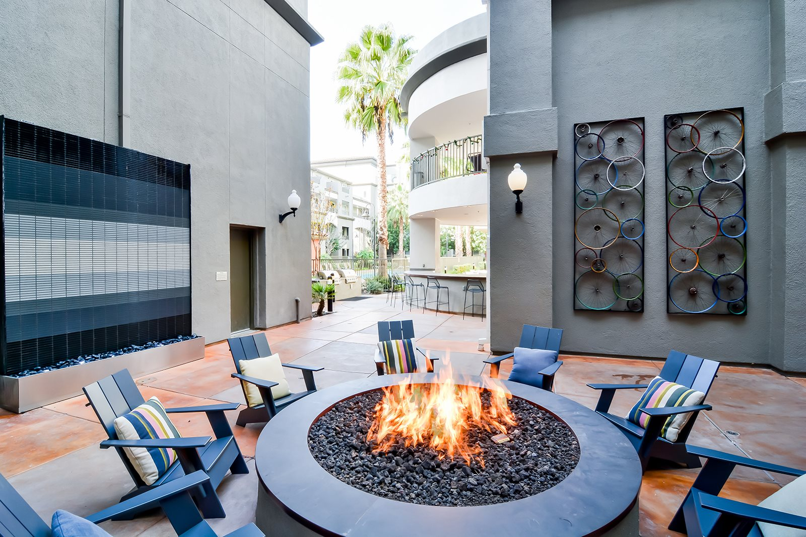 Cozy Setting Around Fire Pit at Dublin Station by Windsor, Dublin, CA, 94568