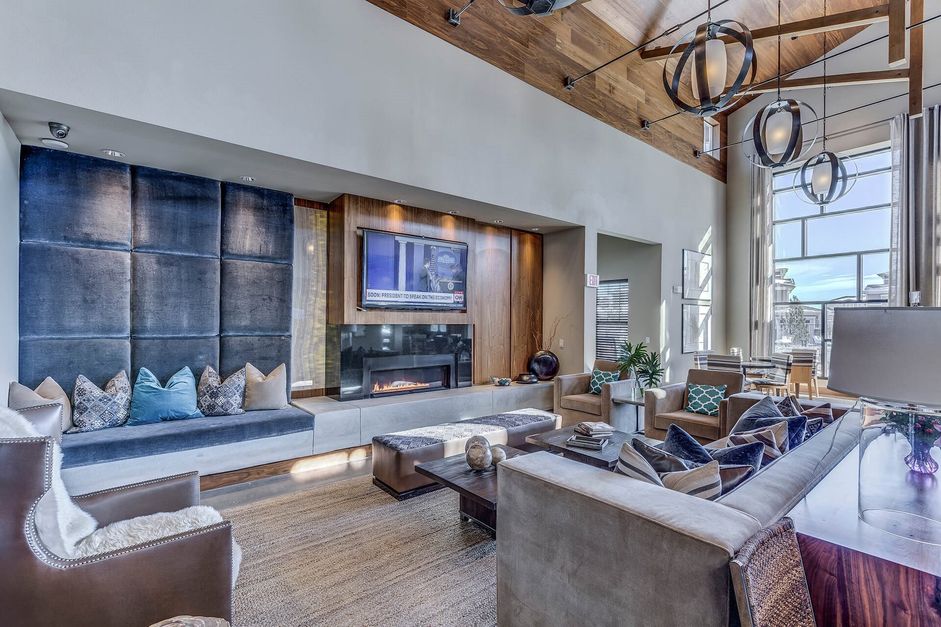 Clubhouse with Big Screen TV at Retreat at the Flatirons, Colorado, 80020
