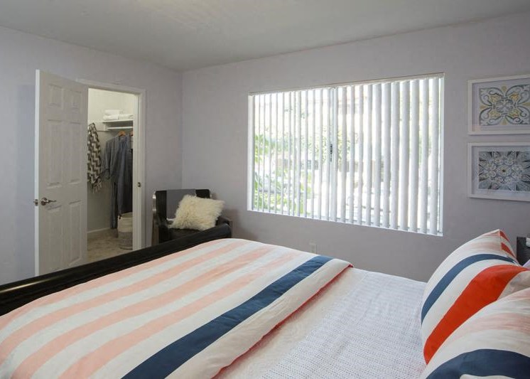 Bedroom with Walk-in Closet at Marine View Apartments, San Pedro, CA