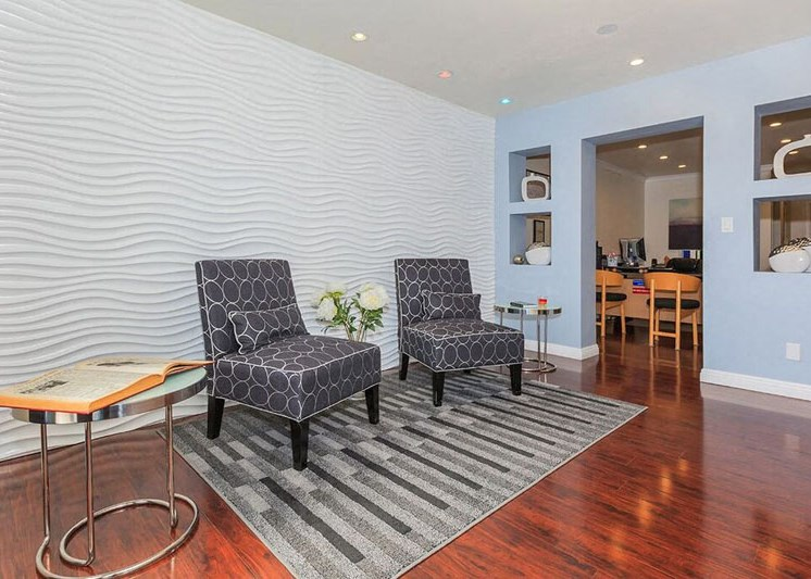 Clubhouse with Upgraded Interiors at Marine View Apartments, San Pedro, 90731