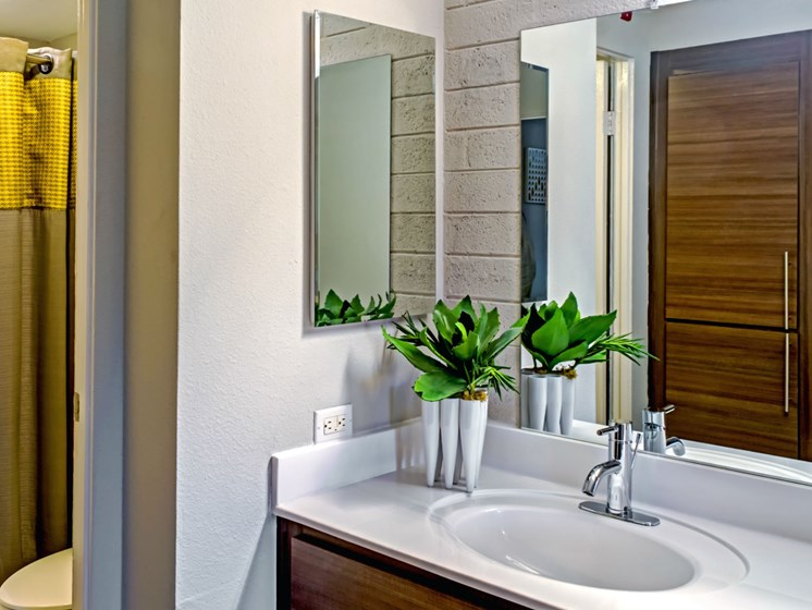 Arcadia Luxury Apartments Phoenix AZ - Capri on Camelback Updated Bathroom With Modern Finishes