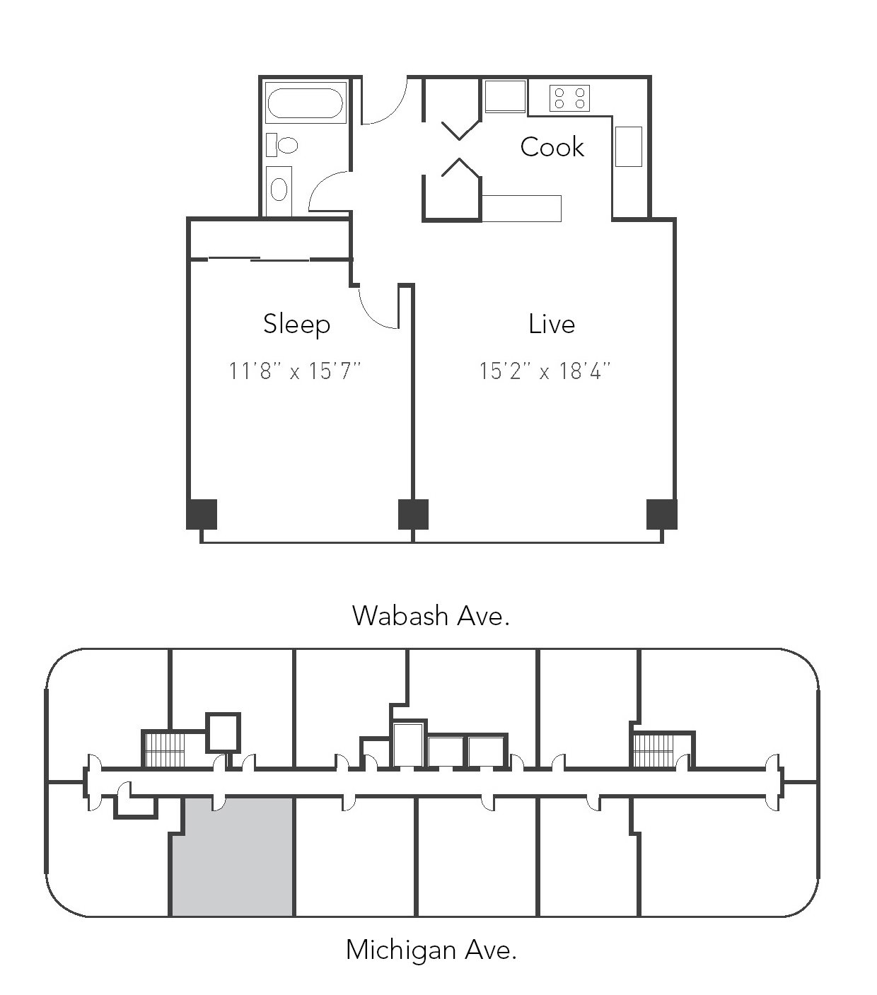 1bd 1ba 10 Floor Plan 10