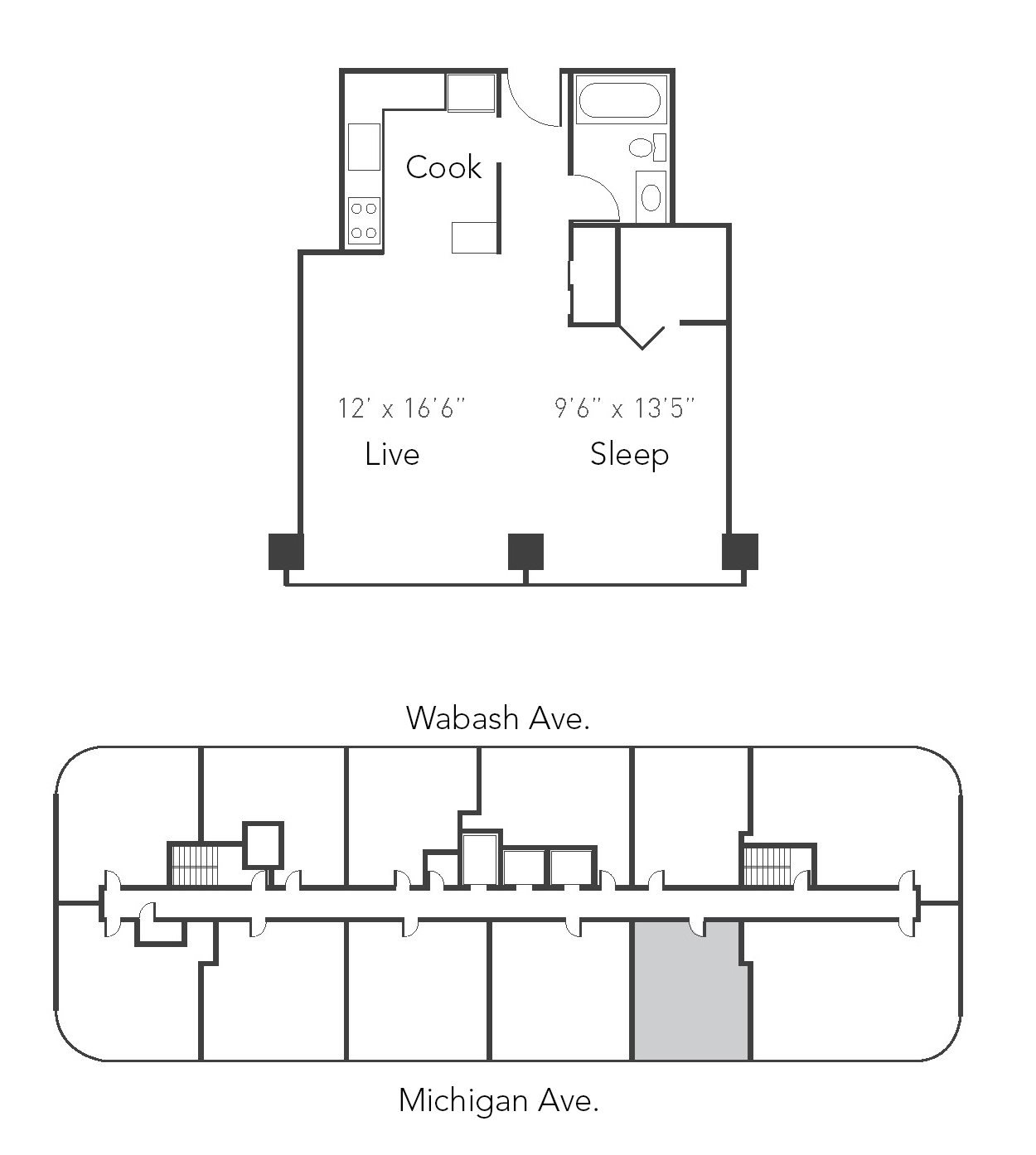Studio 1ba 04 Floor Plan 4