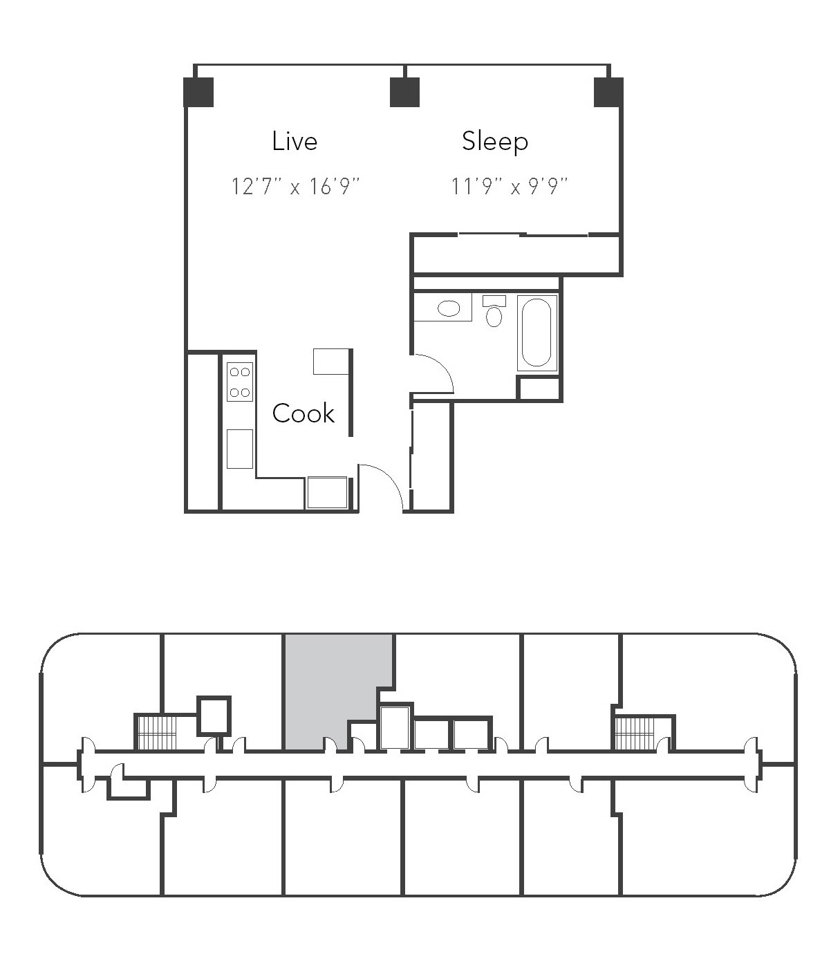 Studio 1ba 07 Floor Plan 7