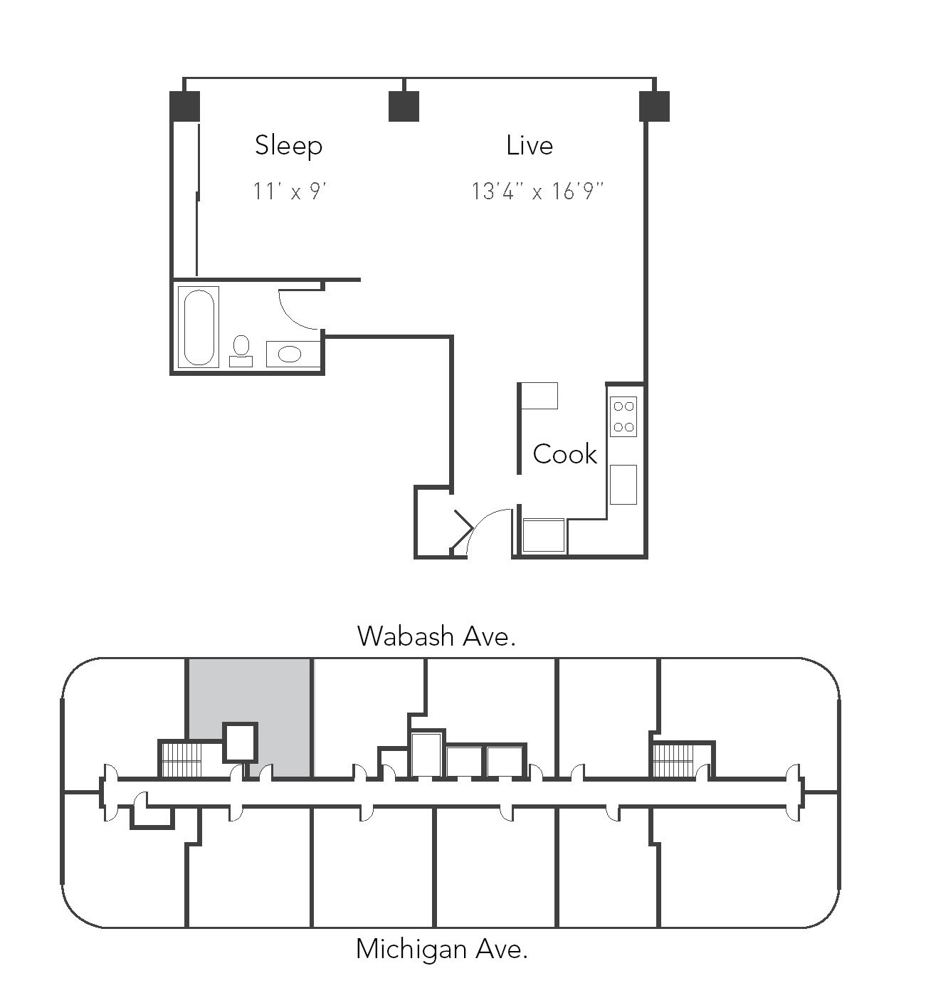 Studio 1ba 09 Floor Plan 9