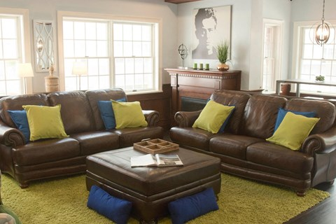 Community clubhouse with leather seating