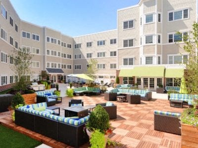 Community Courtyard with outdoor seating