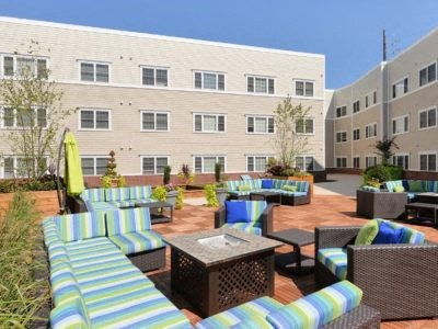 Community Courtyard with outdoor dining area