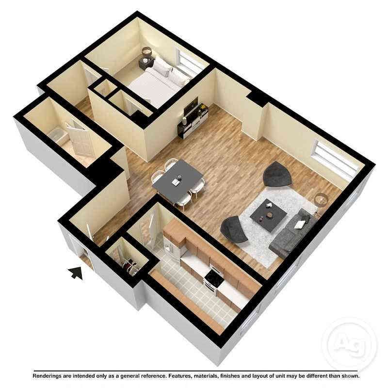 1 Bedroom Apartments Columbia Sc: Floor Plans Of Cornell Arms Apartments In Columbia, SC