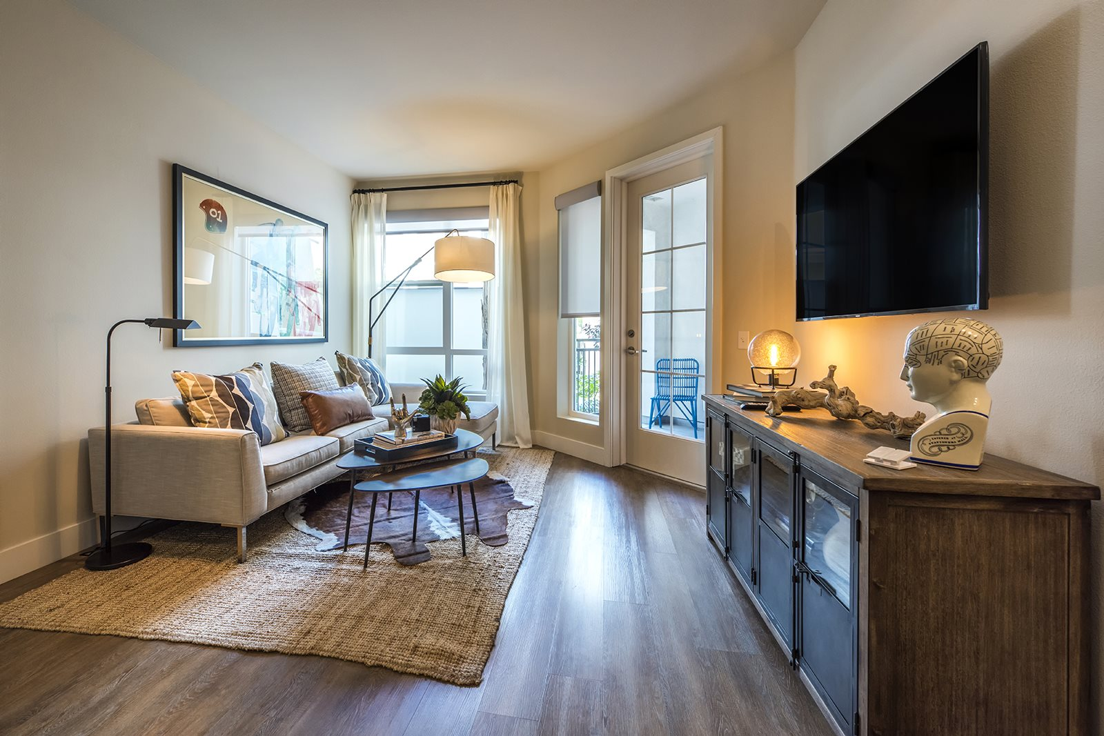 Wood Like Flooring Living Areas in Fullerton, CA- Malden Station by Windsor Apartments