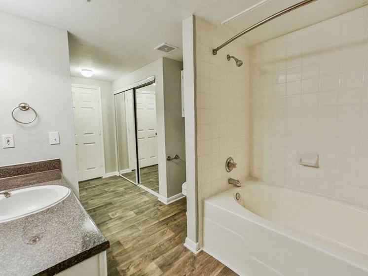 Graves Floorplan, unfurnished bathroom with closet and tub