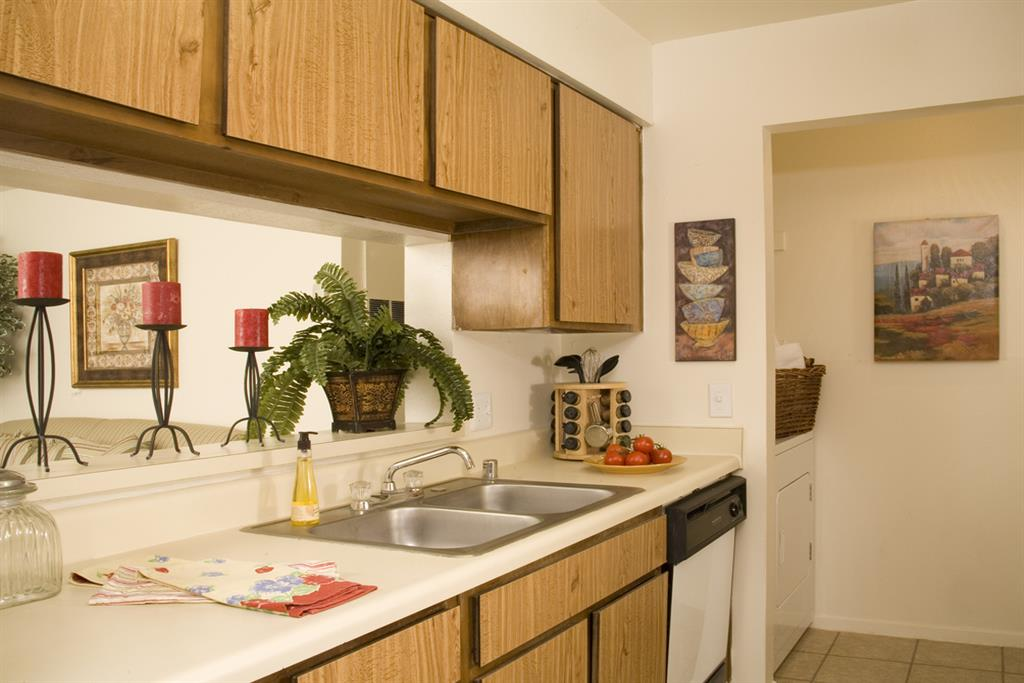 Double Stainless Steel Sink at Aviare Place, Midland, TX, 79705