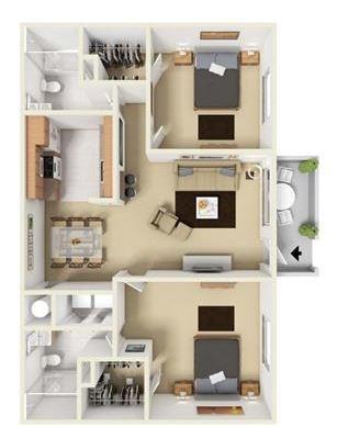 Floor Plan at Aviare Place, Texas, 79705