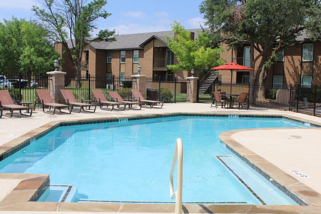 Poolside Sundeck at Hawthorne House, Midland, TX, 79705